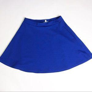 Charlotte Russe Royal Blue Skater Circle Skirt
